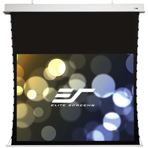 "135"" Evanesce In-Ceiling Electric Tab-Tensioned Projection Screen"