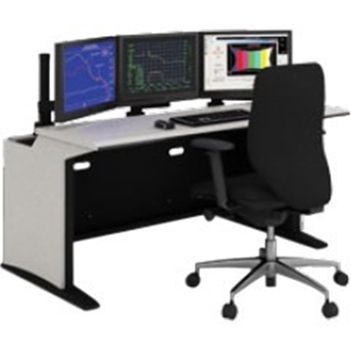 "E-SOC Control Station with Articulating Monitor Mounts (60"" , Black)"