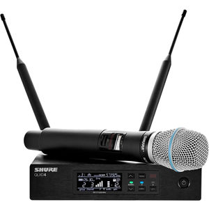 Shure QLXD24/B87A Wireless System with QLXD2/BETA87A Handheld Transmitter