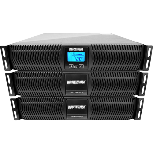 FACTORY DIRECT ITEM ONLY Endeavor Series: double conversion, true sine wave, online UPS w/ Transformer and Battery Pack, rackmount/tower, LCD display, 5556VA/5000W, 208-240V input and 120/208-240V output, parallelable to 20kVA, extended runtime capable