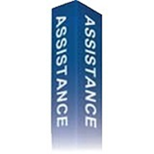 """""""ASSISTANCE"""" Label Option for IS Series Modular Towers (Red)"""