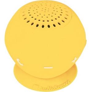 AudioSource Sound pOp 2 Portable Bluetooth Speaker System - 3 W RMS - Yellow