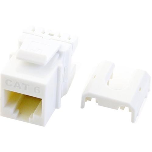 Legrand-On-Q Cat 6 QuickConnect RJ45 Keystone Insert, White, 50-Pack
