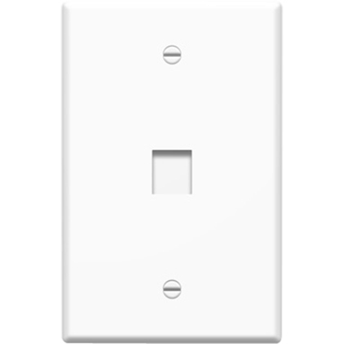 10 PK JUMBO 1-PORT WALLPLATE