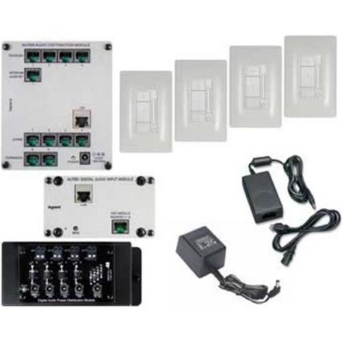 Legrand-On-Q FourRoom SingleSource Audio Kit, White