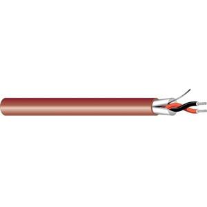 1 PAIR 22 GAUGE STR B/SHIELDED PVC-RED