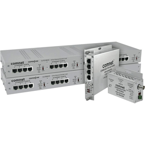 ComNet 1 Channel Ethernet over Coaxial Cable with Pass-through PoE