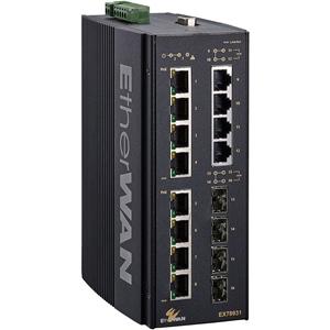 EtherWAN Hardened Managed 16-port (8 x PoE) Gigabit Ethernet Switch