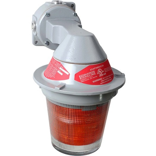 Edwards Signaling 107XBR Series Division 2 Ceiling Mount LED Visual Signal Red Lens 24V DC