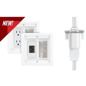 HDTV POWER RELOCATION KIT WITH INTERCONNECT, WHITE