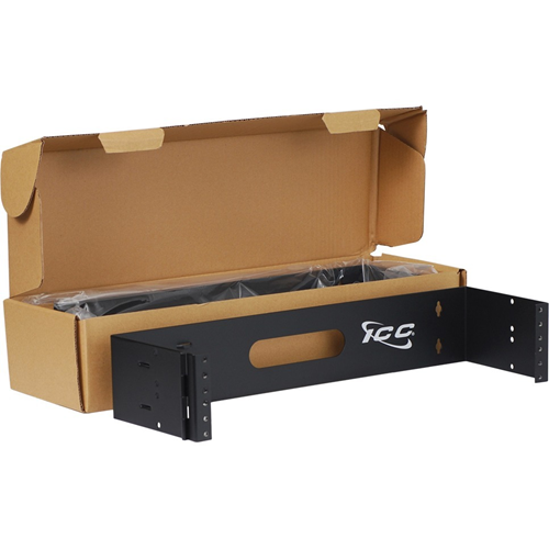 ICC Mounting Bracket for Patch Panel, Cable Manager, Router, Switch - Black Powder Coat