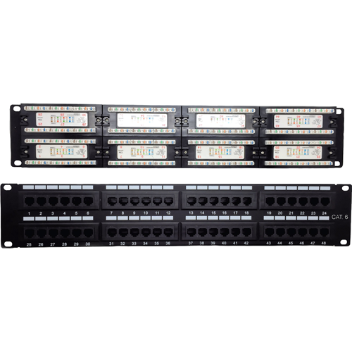 W Box Cat 6 Patch Panel 48 Port