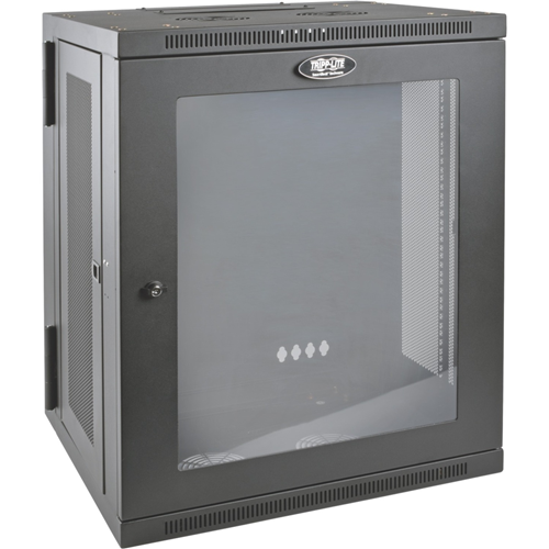 Tripp Lite 15U Wall Mount Rack Enclosure Server Cabinet w Hinged Acrylic Window