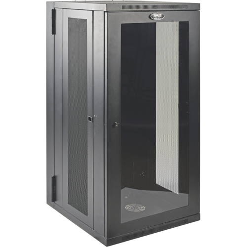 Tripp Lite 26U Wall Mount Rack Enclosure Server Cabinet w Hinged Acrylic Window