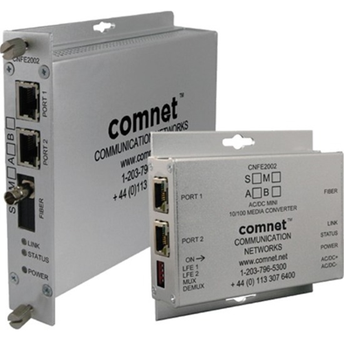 ComNet 2 Ch 10/100 Mbps Ethernet 1310/1550nm, 60 W PoE++, A Side