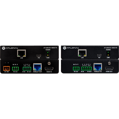 Atlona 4K/UHD HDMI Over 100 M HDBaseT TX/RX with Ethernet, Control, and PoE