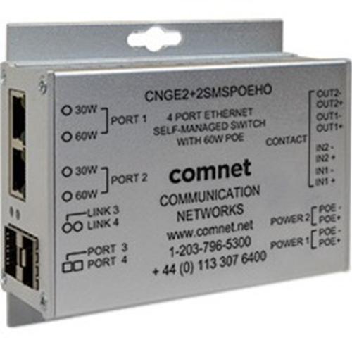 ComNet 10/100/1000 Mbps Intelligent Redundant Ring Gigabit Switch with Optional PoE+
