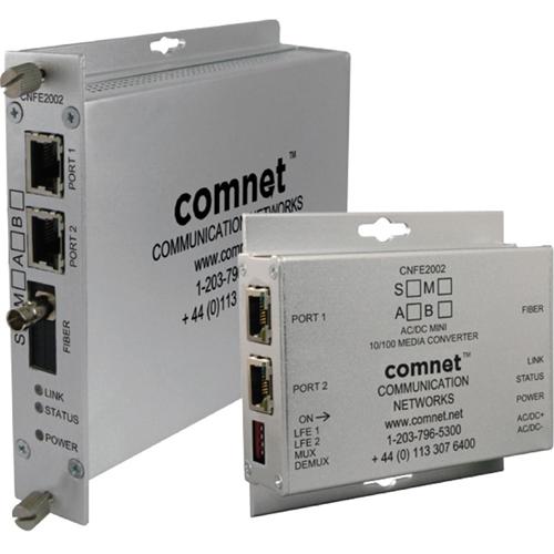 2 x Network (RJ-45) - 1 x ST Ports - DuplexST Port - Single-mode - Fast Ethernet - 10/100Base-TX, 100BASE-FX
