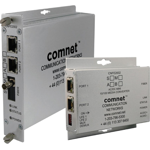 ComNet 2 Ch 10/100 Mbps Ethernet 1310/1550nm, 30 W PoE+, A Side