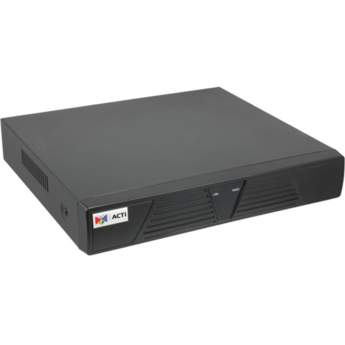 ACTi 4-Channel 1-Bay Desktop Standalone NVR with 4-port PoE Connectors