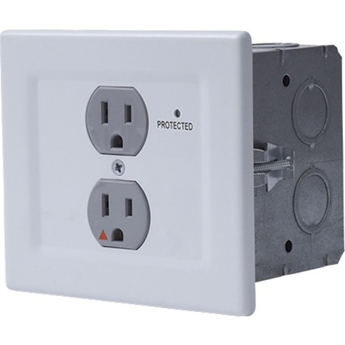 WALL OUTLET POWER / SURGEX SINGLE GANG SINGLE GANG