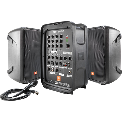"""Harman 8"""" Packaged PA System With 8-channel Integrated Mixer"""