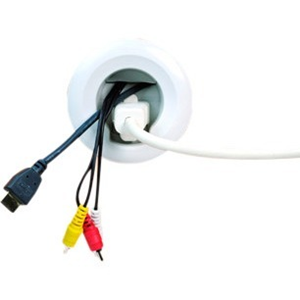 """In-Wall Power Kit Easily hides unsightly power cord and cables. Pre-Wired design installs in under 30 minutes with no electrician or hard wiring required. All parts and tools included. kit includes power grommets with 54"""" power harness 6' power cord, ho"""