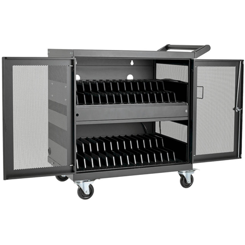 32-PORT USB CHARGING CART WITH SYNCING, SECURE STORAGE AND CORD MANAGEMENT FOR I