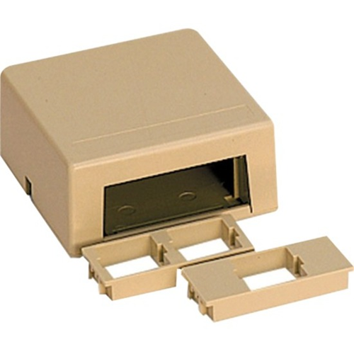 DUPLEX SURFACE MT HOUSING-ELEC IVORY