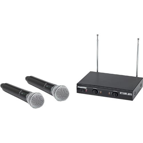 Samson Stage 200 Dual-Channel Handheld VHF Wireless System