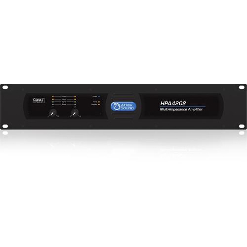 Atlas Sound HPA4202 Amplifier - 2400 W RMS - 2 Channel - Black