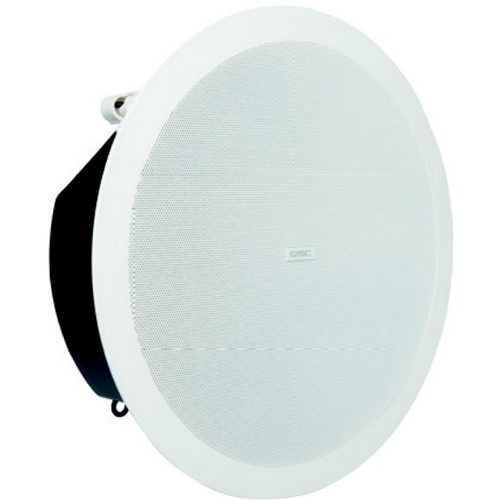QSC AcousticDesign AD-C6T-LP 2-way Indoor Ceiling Mountable Speaker - 60 W RMS - White