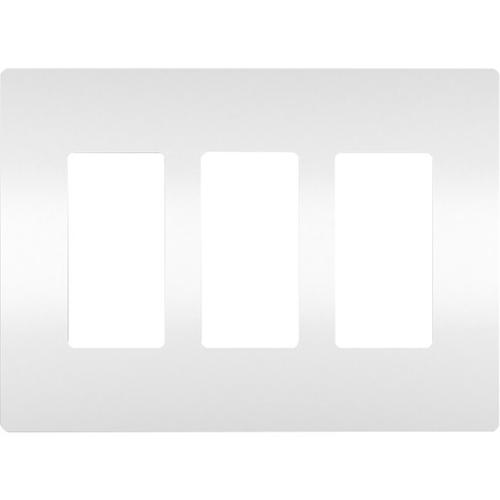 Legrand Three-Gang Screwless Wall Plate, White