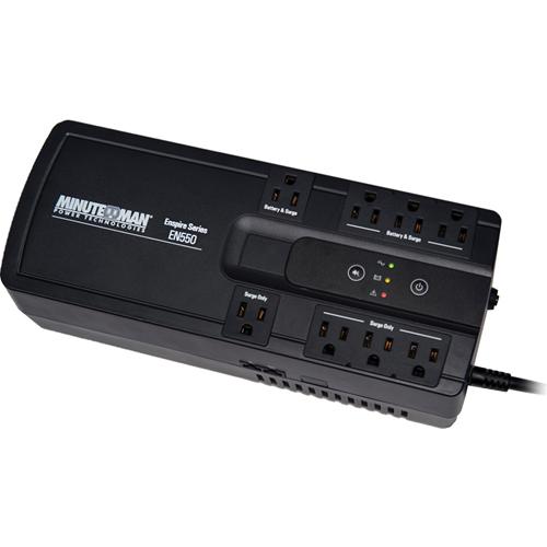 UPS 550VA USB 4-BAT/4-SURGE OUTLETS ENSPIRE SERIES STANDBY 120V