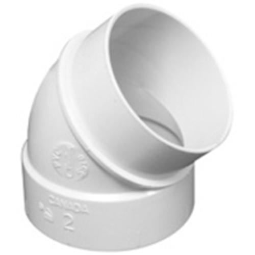 Vaculine 45º Elbow Spigot White - Socket x Spigot