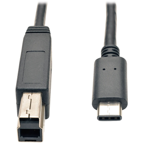 USB 3.1 Gen 2 (10 Gbps) Cable, USB Type-C (USB-C) to USB 3.0 Type-B (M/M), 3 ft.