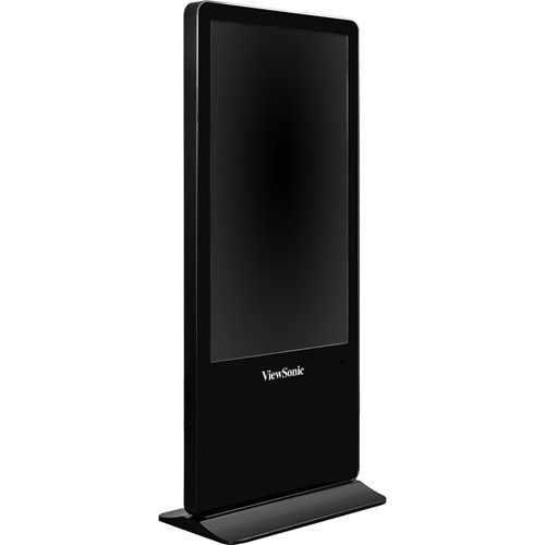"The ViewSonic 55"" All-in-One ePoster Digital Kiosk, Full HD 1080p resolution, 176 /176 wide-angle viewing, 400-nit brightness, 4,000:1 contrast ratio, and dual 10W stereo speakers."