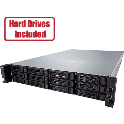 "TeraStation 7120r Enterprise 12-Bay 120TB (12 x 10TB HD) 2U Rack Mountable NAS & iSCSI Unified Storage RAID 0,1,5,6,10,51,61,JBOD Hot Swap HD Includes Rail Kit for Standard 19"" Rack"