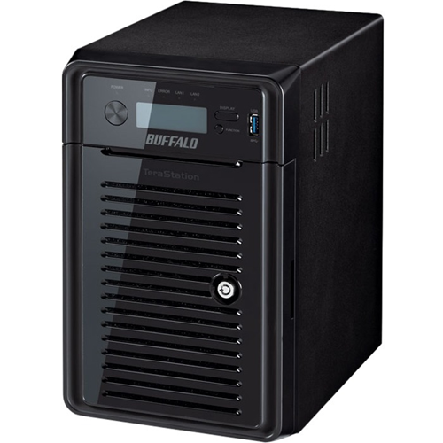 Buffalo 6X2TB NAS Sata Hard Drives Hardware Raid ISCSI SSD Cache 2 Gigabit Ethernet Ports 3 Year Warranty.