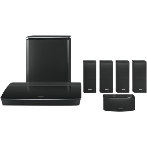 """Lifestyle Builder Overpack System BLK-Includes Lifestyle 600 media console, Acoustimass 300 wireless bass module, 4 AdapitIQ III in walls and 1 Center, & Omni Jewel In-wall wiring kit"""" """"BOS7821141210"""