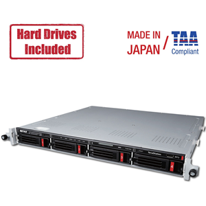 BUFFALO NAS 4-BAY 4X6TB NAS SATA HD 1X10GBE 2XGBE RAID ISCSI