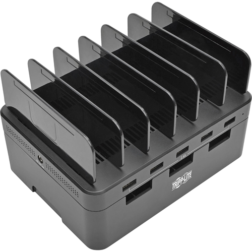 "USB Charging Station, 5-Port, 4-9/10""Wx2-3/5""Dx6-3/5""H, BK"