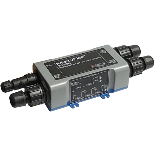 Vigitron MaxiiNet IP67 Weatherproof L2 Drop and Insert 1G 60W PoE++ 3-Port Network Switch