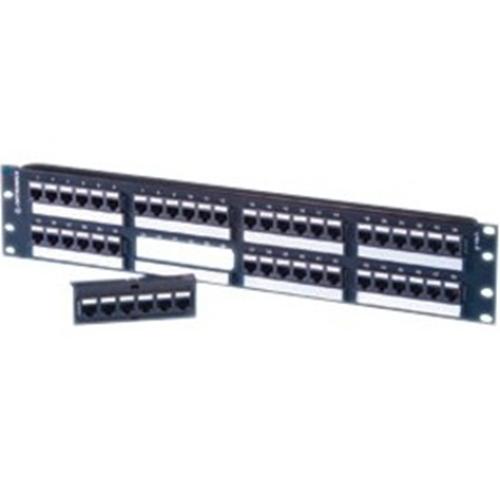 Ortronics TechChoice Angled Patch Panel Category 5e 48 Port
