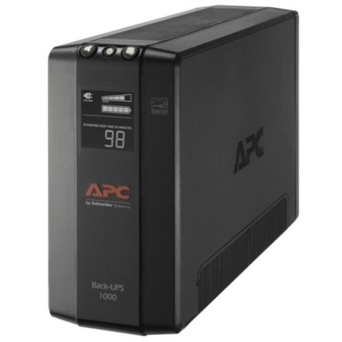 APC by Schneider Electric Back UPS Pro BX1000M, Compact Tower, 1000VA, AVR, LCD, 120V