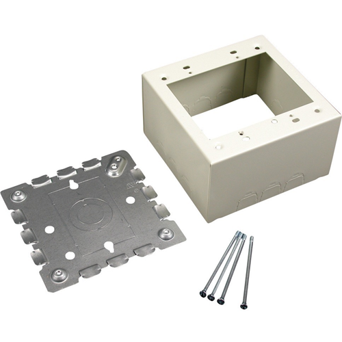 Wiremold 500/700 Series Two-Gang Deep Switch and Receptacle Box Fitting, Ivory