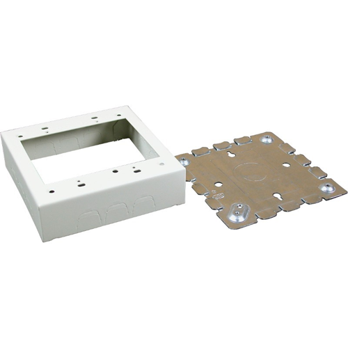 Wiremold 500/700 Series Two-Gang Switch and Receptacle Box Fitting, Ivory