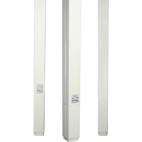 Wiremold 25DTC Series 10' Blank Pole, Ivory