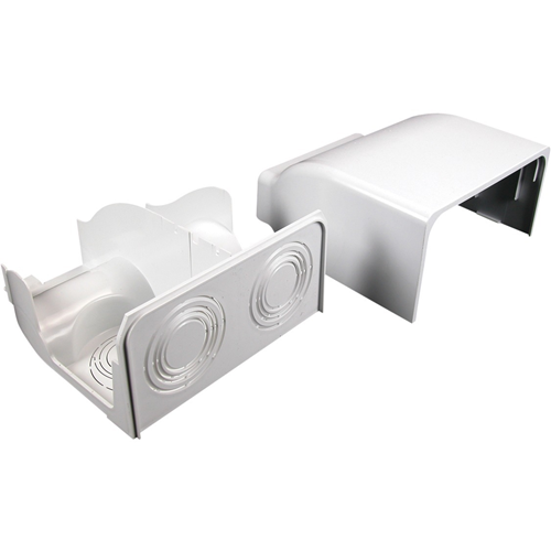 Wiremold 5400 Radiused Divided Entrance Cap Fitting