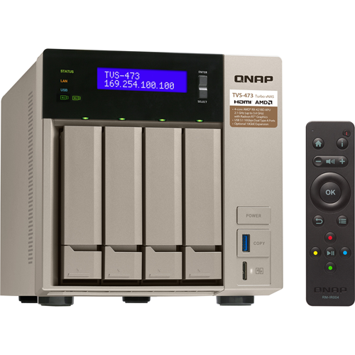 TVS-473-8G 4BAY 2.1 GHZ QC 4 X GBE 4 X USB 3.0